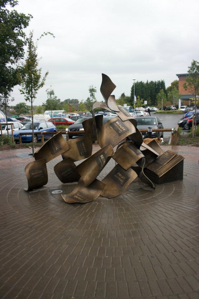 peter walker sculptor the formation of poetry - lichfield