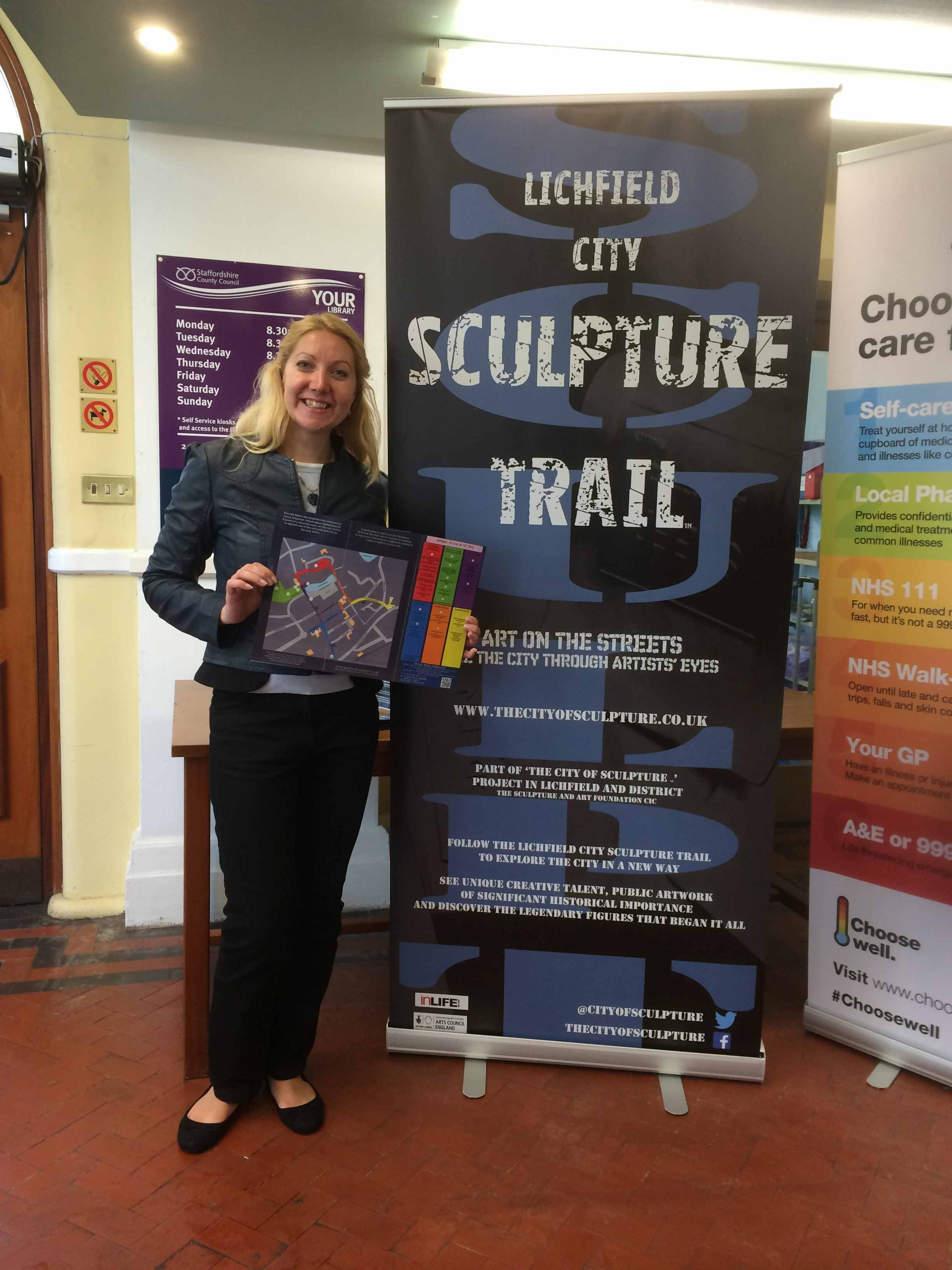 city of sculpture leaflets lichfield
