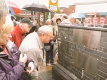P Walker plaque dedication scamp burntwood city of sculpture