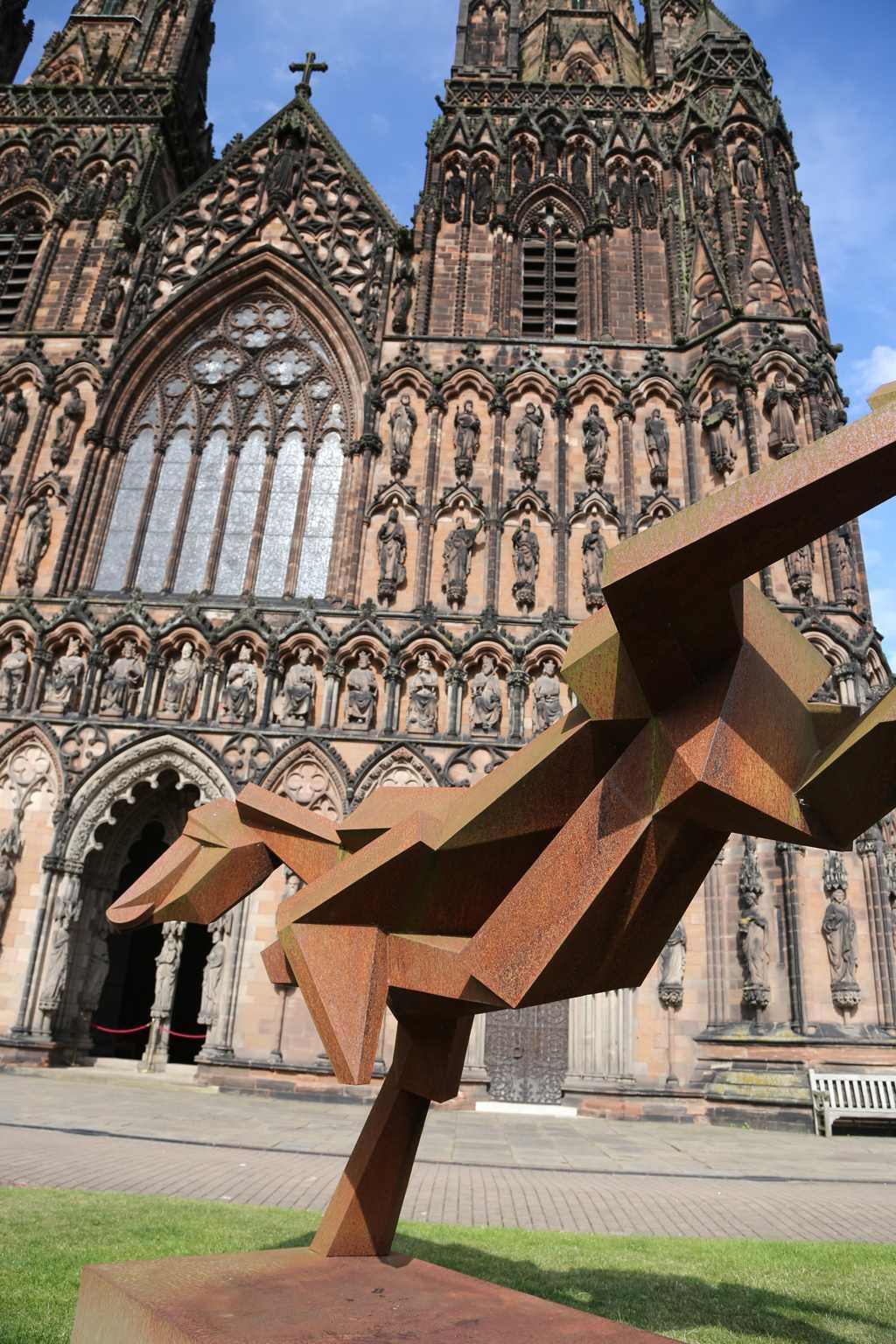 Peter walker sculptor lichfield cathedral c